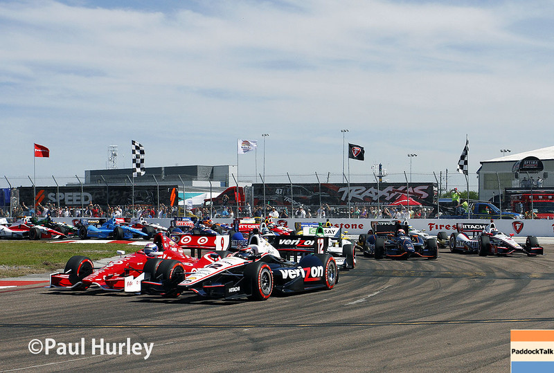 March 30: Early laps during the Firestone Grand Prix of St. Petersburg Verizon IndyCar series race.