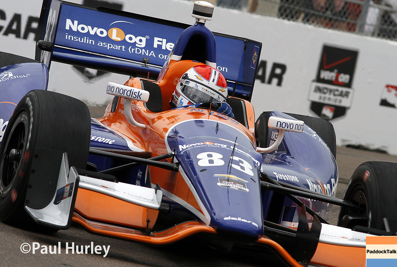 March 28: Charlie Kimball during Verizon IndyCar series practice for the Firestone Grand Prix of St. Petersburg.