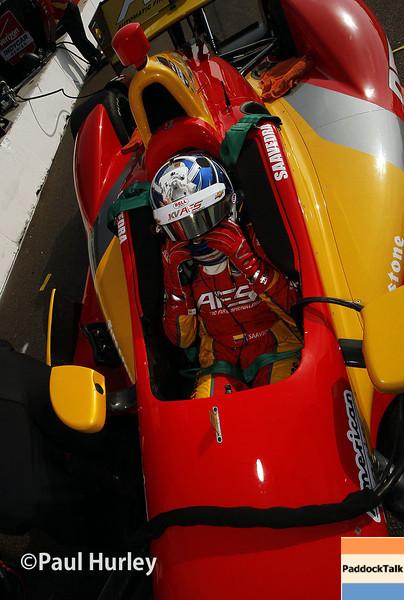 March 29:  Sebastian Saavedra during Verizon IndyCar series qualifying for the Firestone Grand Prix of St. Petersburg.