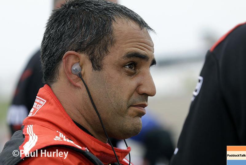 March 28: Juan Pablo Montoya during Verizon IndyCar series practice for the Firestone Grand Prix of St. Petersburg.