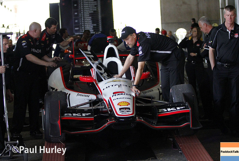 March 28: IndyCar tech during Verizon IndyCar series practice for the Firestone Grand Prix of St. Petersburg.