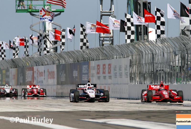 March 30: Front straight during the Firestone Grand Prix of St. Petersburg Verizon IndyCar series race.