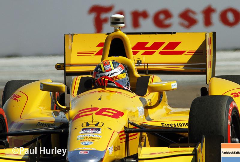 March 30: Ryan Hunter-Reay during the Firestone Grand Prix of St. Petersburg Verizon IndyCar series race.
