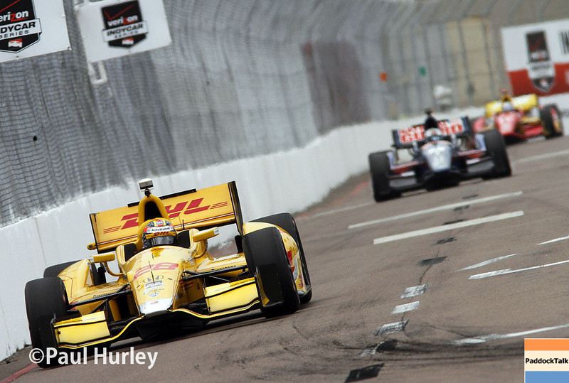 March 28: Ryan Hunter Reay during Verizon IndyCar series practice for the Firestone Grand Prix of St. Petersburg.