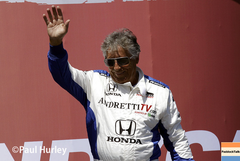 March 30: Mario Andretti during the Firestone Grand Prix of St. Petersburg Verizon IndyCar series race.