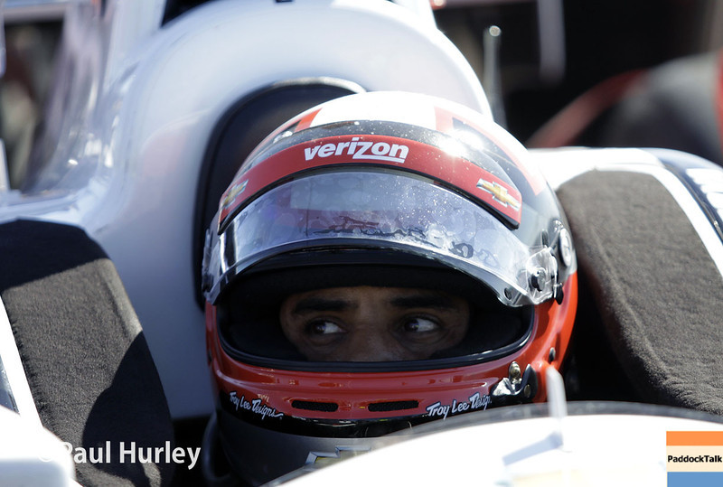 March 30: Juan Montoya during prerace warm-up for the Verizon IndyCar series Firestone Grand Prix of St. Petersburg.