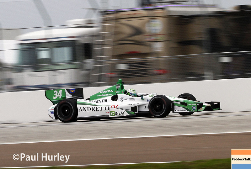 March 28: Carlos Munoz during Verizon IndyCar series practice for the Firestone Grand Prix of St. Petersburg.