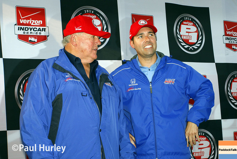 March 29:  A.J. Foyt, Jr. and Larry Foyt during Verizon IndyCar series qualifying for the Firestone Grand Prix of St. Petersburg.