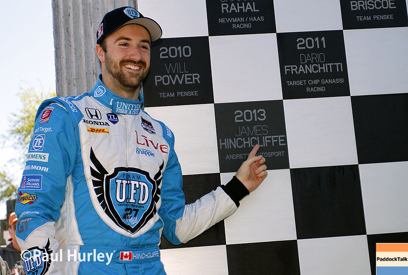 March 30:  James Hinchcliffe during prerace warm-up for the Verizon IndyCar series  Firestone Grand Prix of St. Petersburg.