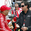 March 28: Tony Kanaan and Bryan Herta during Verizon IndyCar series practice for the Firestone Grand Prix of St. Petersburg.