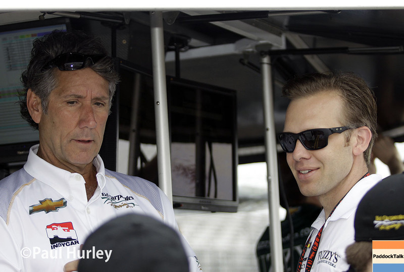 March 29:  Tony George and Ed Carpenter during Verizon IndyCar series qualifying for the Firestone Grand Prix of St. Petersburg.