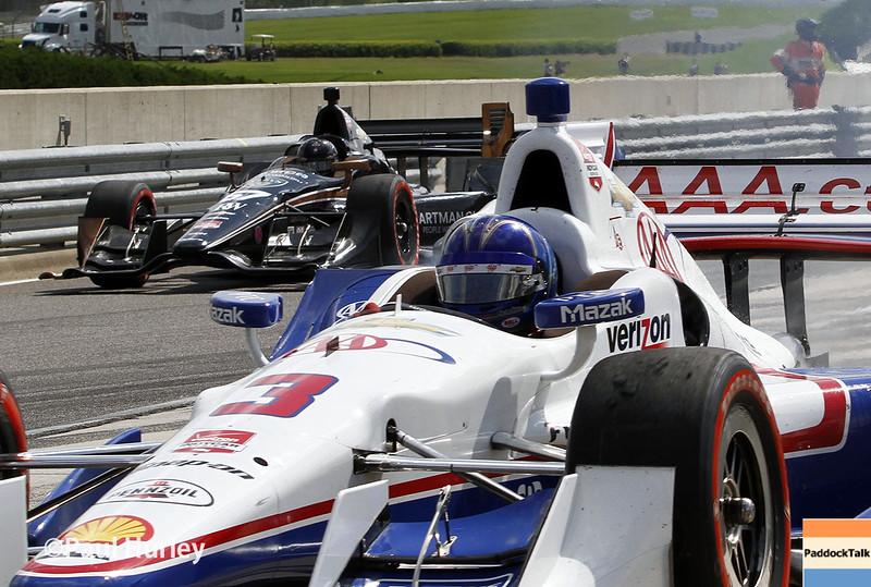 April 26: Pit action during the Honda Indy Grand Prix of Alabama.