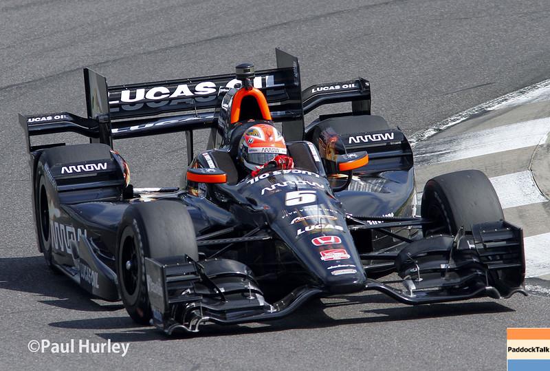 April 26: James Hinchcliffe during the Honda Indy Grand Prix of Alabama.