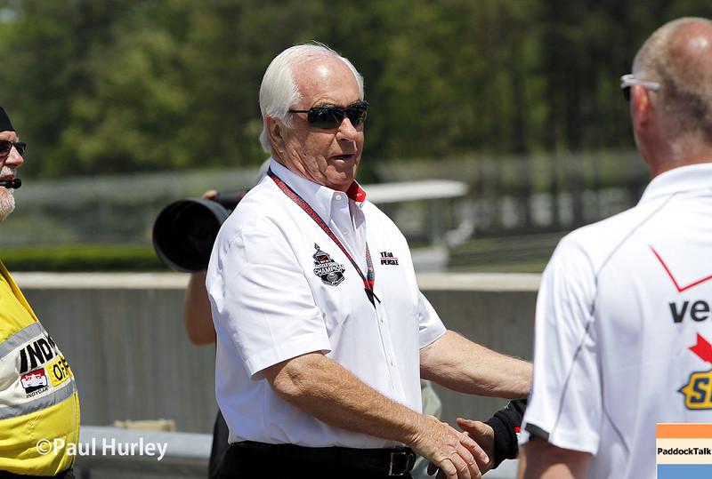 April 26: Roger Penske during the Honda Indy Grand Prix of Alabama.