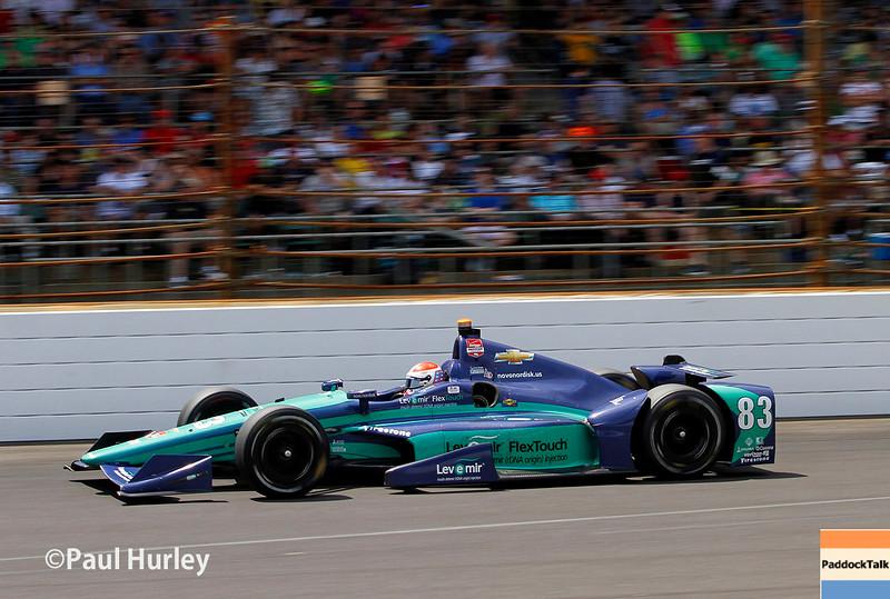 May 24: Charlie Kimball during the 99th Indianapolis 500.