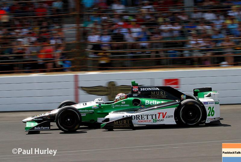 May 24: Carlos Munoz during the 99th Indianapolis 500.