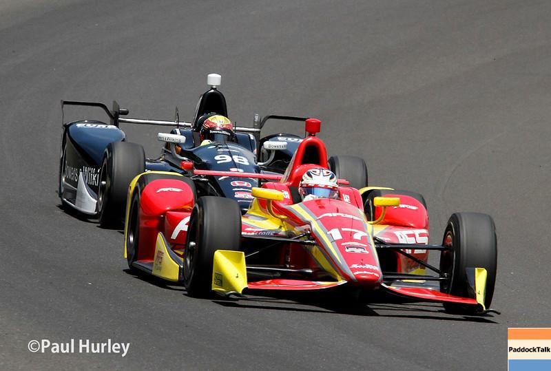 May 24: Sebastian Saavedra and Gabby Chaves during the 99th Indianapolis 500.