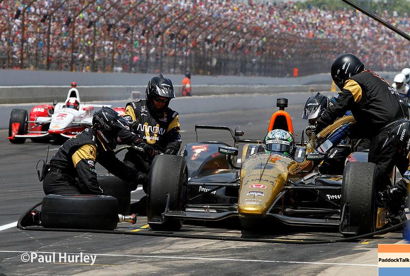 May 24: Ryan Briscoe during the 99th Indianapolis 500.