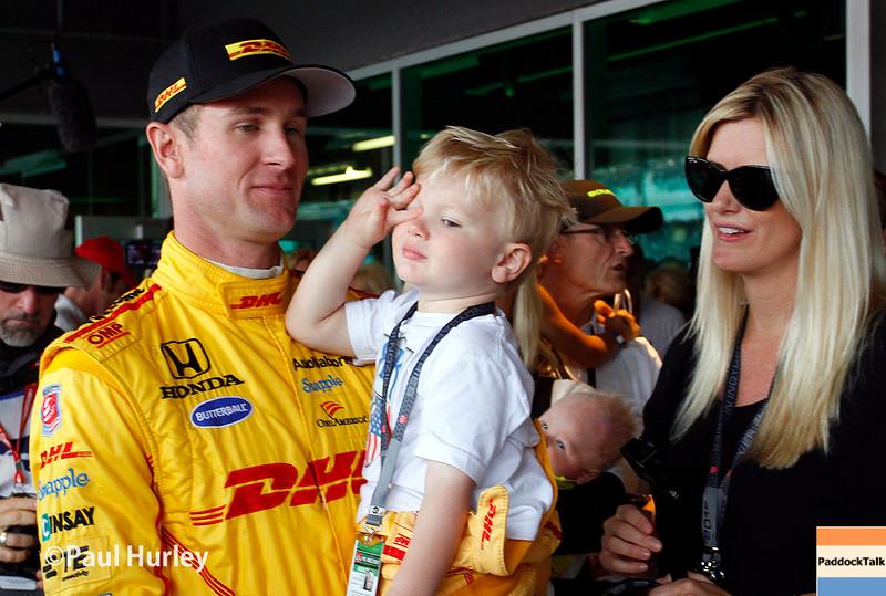 May 24: Ryan Hunter-Reay before the 99th Indianapolis 500.