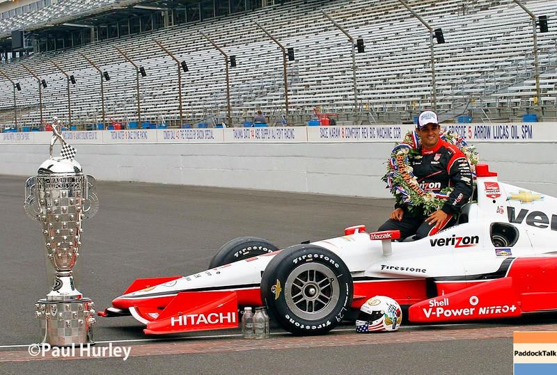 May 24: Juan Pablo Montoya after the 99th Indianapolis 500.