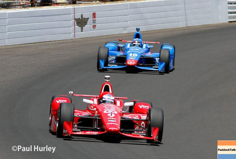 May 24: Scott Dixon and Tony Kanaan during the 99th Indianapolis 500.