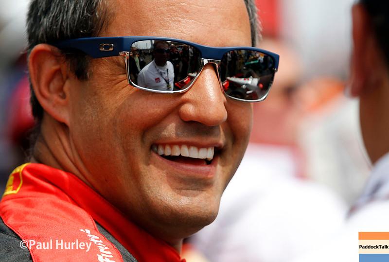 May 24: Juan Pablo Montoya before the 99th Indianapolis 500.