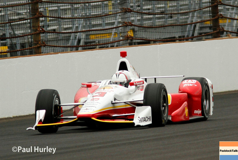 May 16-17: Helio Castroneves during qualifications for the 99th Indianapolis 500.