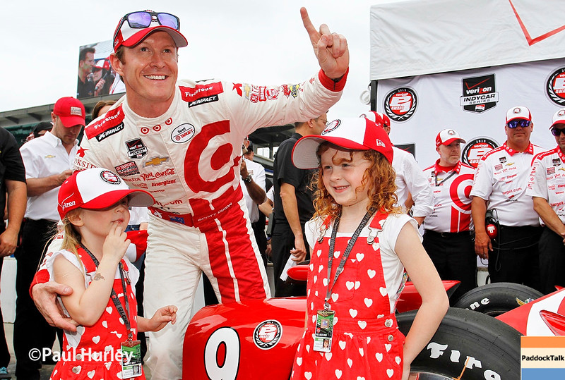 May 16-17: Scott Dixon and family during qualifications for the 99th Indianapolis 500.
