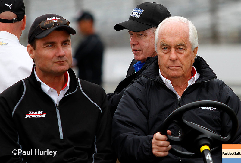 May 16-17: Tim Cindric and Roger Penske during qualifications for the 99th Indianapolis 500.