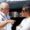 July 17-18: Roger Penske and Juan Pablo Montoya during the Iowa Corn 300.