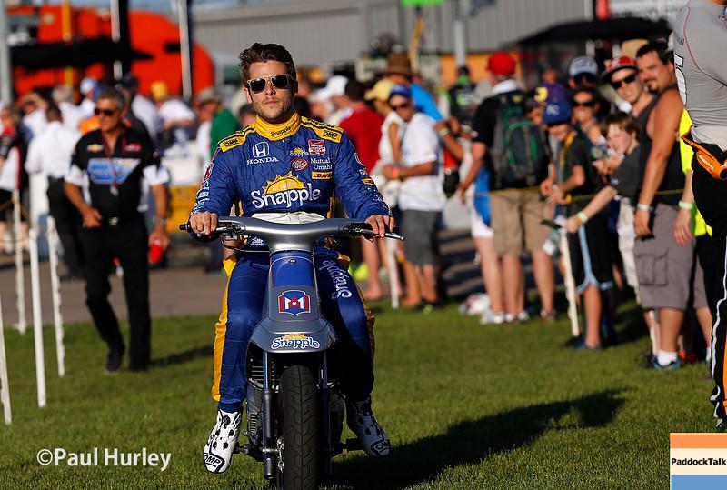 July 17-18: Marco Andretti before the Iowa Corn 300.