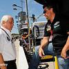 July 17-18: Roger Penske and Michael Andretti during the Iowa Corn 300.