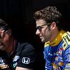 July 17-18: Michael Andretti and Marco Andretti during the Iowa Corn 300.