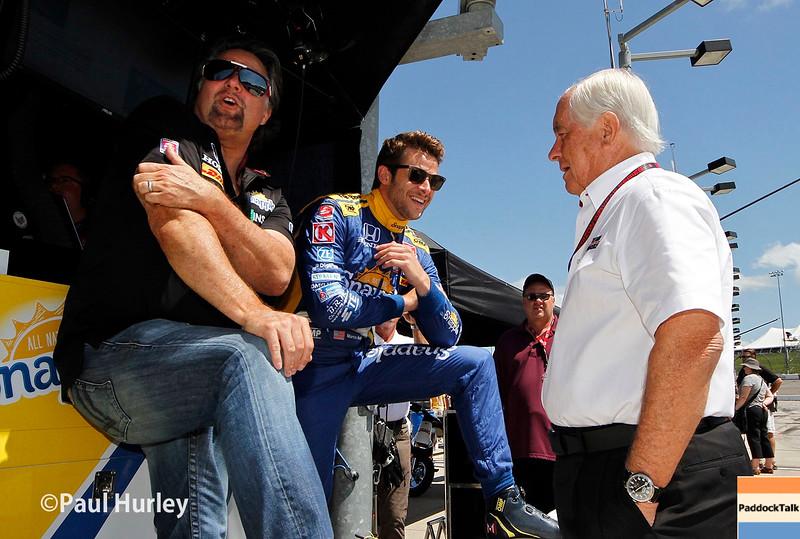 July 17-18: Michael Andretti, Marco Andretti and Roger Penske during the Iowa Corn 300.