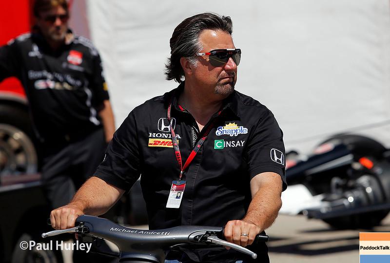July 17-18: Michael Andretti during the Iowa Corn 300.