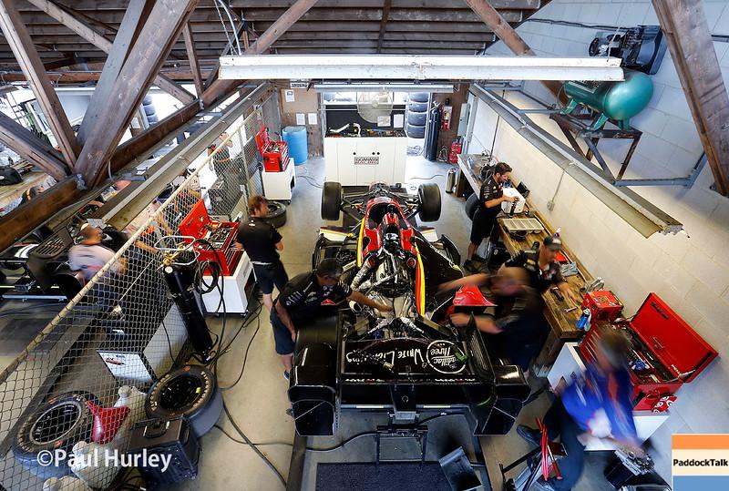 August 1-2: Sage Karam's garage at the Honda Indy 200 at Mid-Ohio.