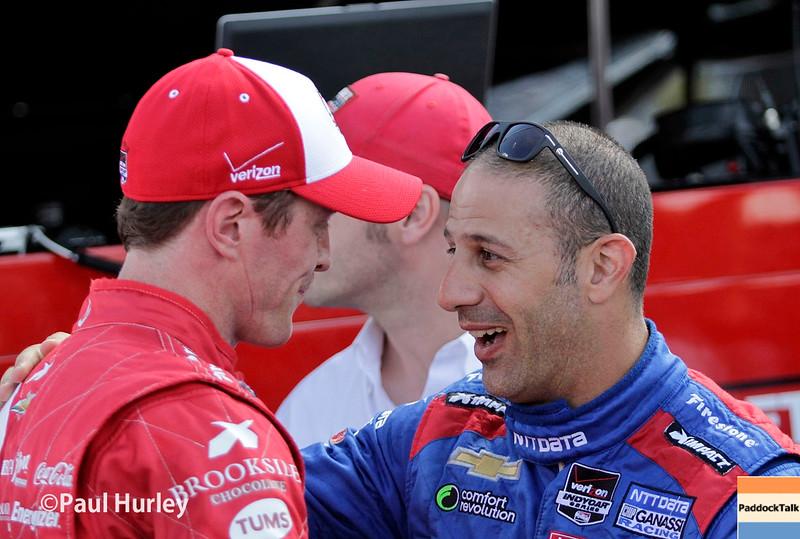 August 1-2: Scott Dixon and Tony Kanaan at the Honda Indy 200 at Mid-Ohio.