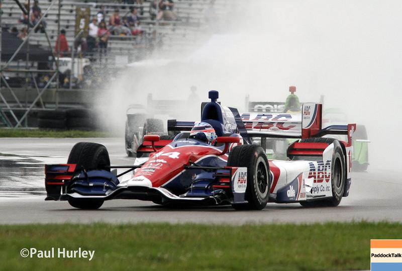 April 12: Takuma Sato during the Indy Grand Prix of Louisiana.