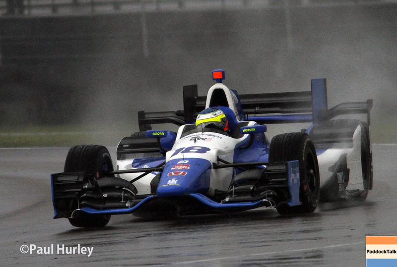 April 12: Carlos Huertas during the Indy Grand Prix of Louisiana.
