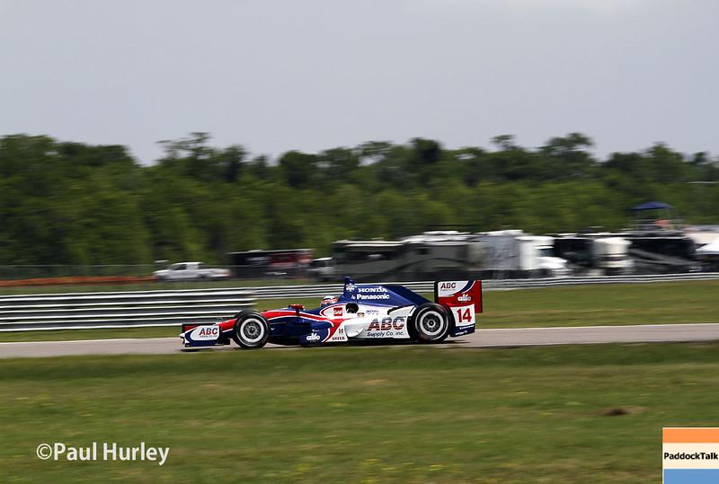 April 10: Takuma Sato during practice for the Indy Grand Prix of Louisiana.