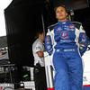 April 10: Simona de Silvestro during practice for the Indy Grand Prix of Louisiana.