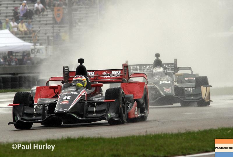 April 12: Sage Karam during the Indy Grand Prix of Louisiana.