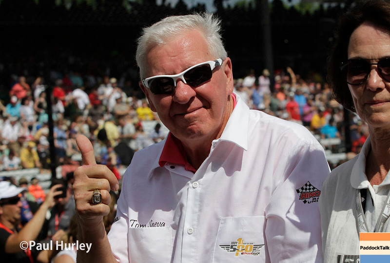 May 29: Tom Sneva before the 100th Running of the Indianapolis 500.