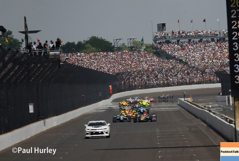 May 29: Before the green flag of the 100th Running of the Indianapolis 500.
