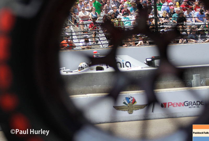 May 29: Oriol Servia during the 100th Running of the Indianapolis 500.