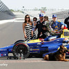 May 30: Alexander Rossi, Brian Herta and Michael Andretti and family after the 100th Running of the Indianapolis 500.