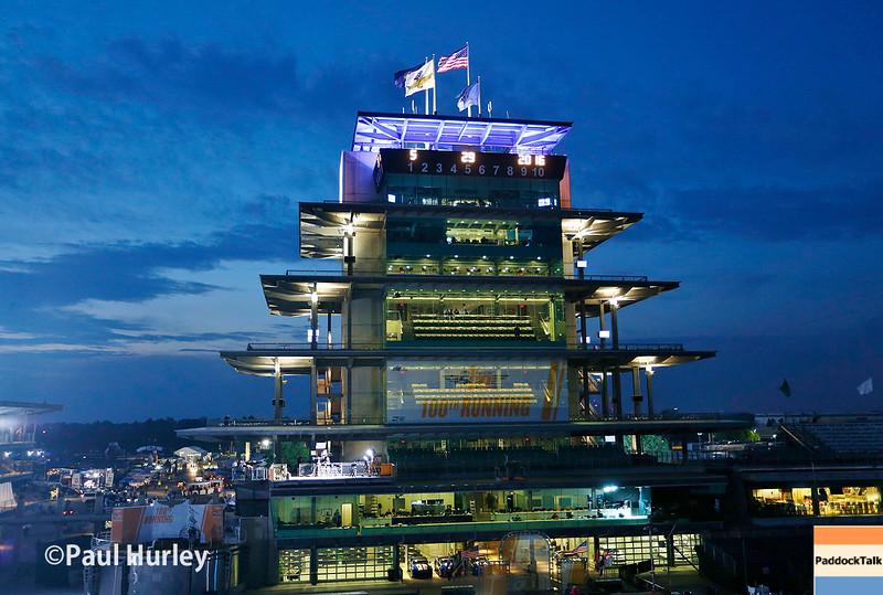May 29: Early morning before the 100th Running of the Indianapolis 500.
