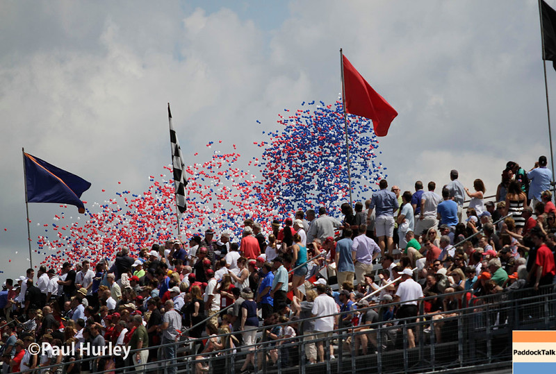 May 29: The balloons before the 100th Running of the Indianapolis 500.