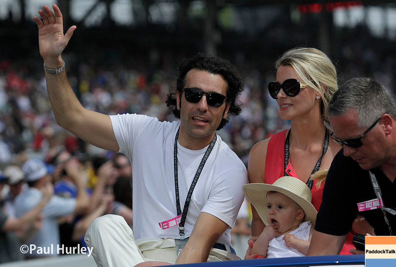 May 29: Dario Franchitti before the 100th Running of the Indianapolis 500.