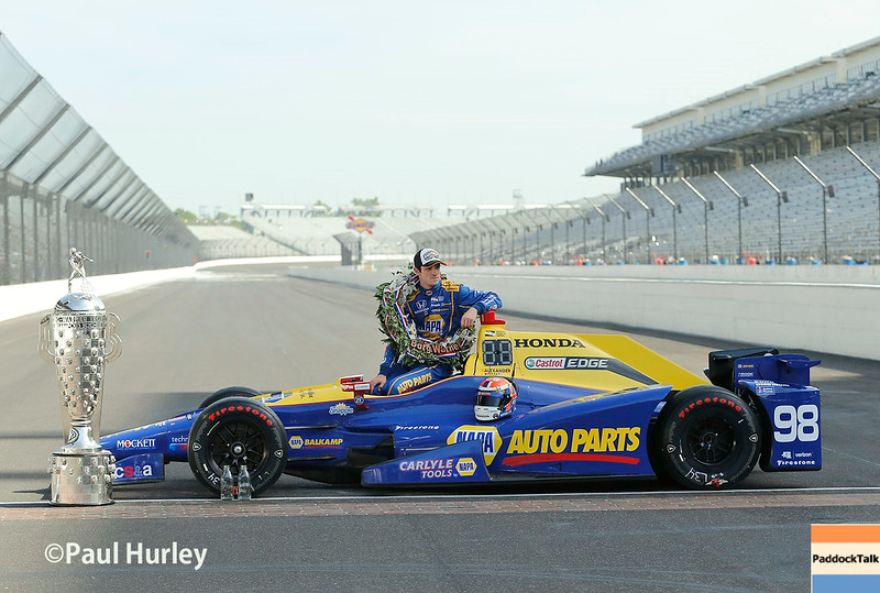 May 30: Alexander Rossi after the 100th Running of the Indianapolis 500.